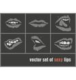 dark paper lips vector image vector image