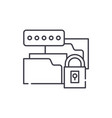 data encryption line icon concept data encryption vector image vector image