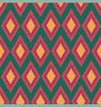 diamond ikat seamless repeat pattern design vector image vector image