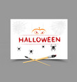 drawing halloween message vector image vector image