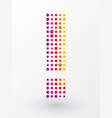 exclamation mark composed of colorful dots vector image