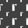 extinguisher icon sign Seamless pattern on a gray vector image