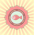 fresh fishes symbol vector image vector image