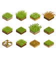 grass and soil layers isometric vector image vector image
