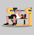 guy makes the bench press vector image