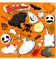 halloween comic speech bubbles vector image vector image