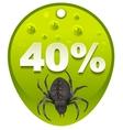 Halloween discount coupon 40 percent Halloween vector image vector image