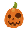 halloween orange pumpkin icon holiday carved vector image