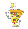have an idea pizza slice mascot cartoon vector image vector image