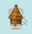honey and bees honeycombs and hive and apiary vector image vector image
