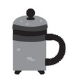 isolated pixelated teapot vector image vector image