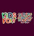 kids letters and numbers set bold colorful vector image