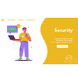 landing page internet security concept vector image