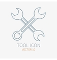 Line working color wrench for construction vector image