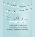 Merry christmas card garland on blue background