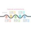 navigation map infographics 5 steps timeline vector image