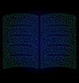 open book polygonal frame mesh vector image