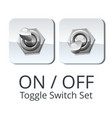 panel toggle switch set vector image vector image