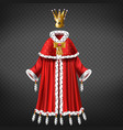 queens or princess royal dressing realistic vector image vector image