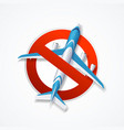 realistic detailed 3d flight cancelled concept vector image