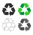 recycling recycle icon shape sign set vector image vector image