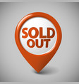 round 3d pointer for a sold out item vector image vector image