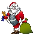 Santa Claus with a bell and bag vector image vector image