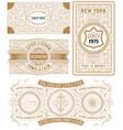 set of 4 vintage cards vector image vector image