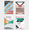 set of business multipurpose annual report vector image vector image