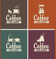 set of coffee banners for coffeehouse vector image vector image
