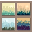 set of different landscapes with trees an rising vector image