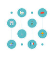 set of europe icons flat style symbols with artist vector image