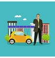 Smart city concept in flat vector image
