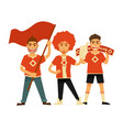 sport club fans soccer or football team flags vector image vector image