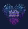 stem colored heart line on vector image vector image