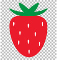 strawberry on transparent background strawberry vector image vector image