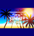 summer time holiday cover banner design elements vector image
