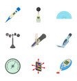 technology instrument icons set cartoon style vector image