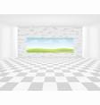 tile floor vector image