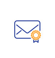 verified mail line icon confirmed message vector image