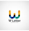 W letter logo minimal line design vector image vector image