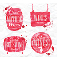 Watercolor Wine Cask vector image vector image