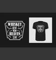 whiskey t shirt print design creative bold vector image vector image