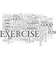 why should i exercise text word cloud concept vector image vector image