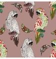Zentangle stylized cartoon parrot vector image vector image