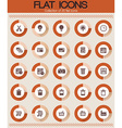 Collection of flat icons vector image