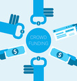 Crowdfunding concept vector image