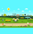 empty park - playground - city garden cartoon vector image