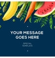 Organic food banner fresh vegetables and fruits vector image