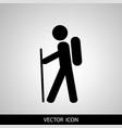 travel tourist icon vector image